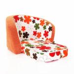 Детски разтегателен фотьойл в оранжево
