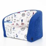 Детски разтегателен фотьойл в синьо