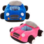 Бебешки плюшен фотьойл - розова кола