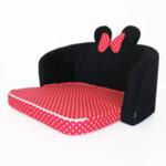 Детски разтегателен диван в червено и черно