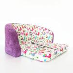 Детски разтегателен диван в лилаво