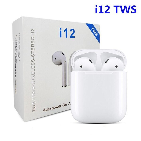 AirPods Bluetooth Слушалки i12 TWS 3D