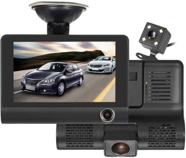 Видеорегистратор Amio с 2 камери FUll HD VIDEO CAR DVR + Камера за задно виждане