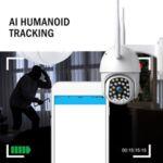 ВОДОУСТОЙЧИВА Wifi Full HD 2.0MP 23 LED 320° въртяща камера с Motion Tracking