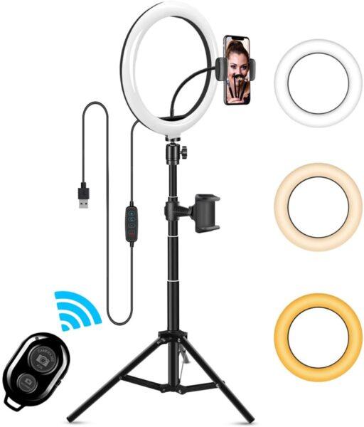 """10"""" Универсална LED Ринг лампа с трипод 186см, различни цветове, YouTube, TikTok"""