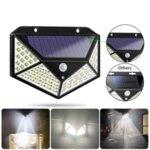 Соларна LED лампа със сензор за движение 100LEDs
