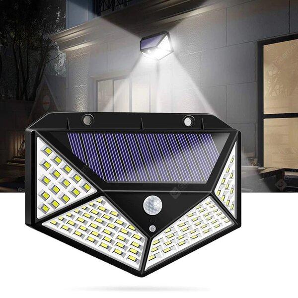 Соларна LED лампа със сензор за движение 100LEDs 7W