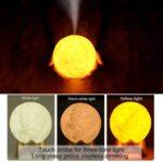 Овлажнител за въздух ЛУНА 3D светеща нощна лампа 2в1
