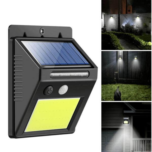СОЛАРНА LED лампа 30LEDs диода IP65 водоустойчива 4W