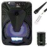 """Активна Bluetooth караоке тонколона 8"""" с микрофон"""