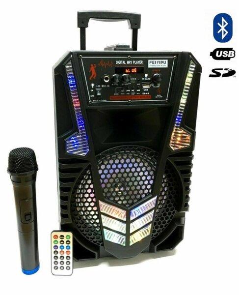 """Активна Караоке Bluetooth колона 8"""" микрофон и дистанционно ES-V-8"""