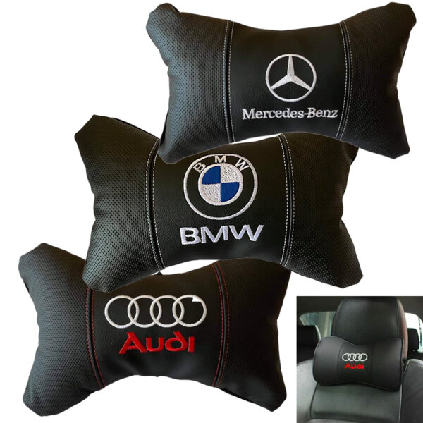 Авто ергономични възглавнички на марки автомобили 2бр. Комплект