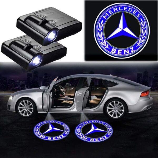 Лого проектор за кола Светеща емблема Wireless Courtesy Door Audi/BMW/Mercedes