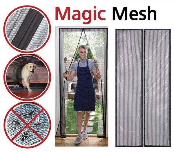 Мрежа против комари и насекоми за врата, магнитна Magic Mesh