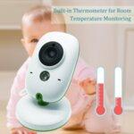 """БЕБЕФОН VB602 с цветен екран 2"""", двупосочно аудио, термометър"""