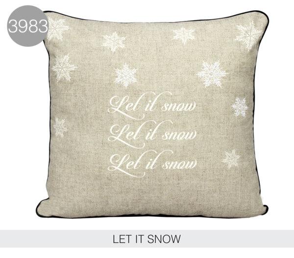 Декоративна възглавница LET IT SNOW