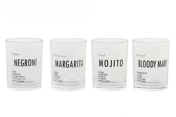 Комплект чаши с рецепти за коктейли GAME
