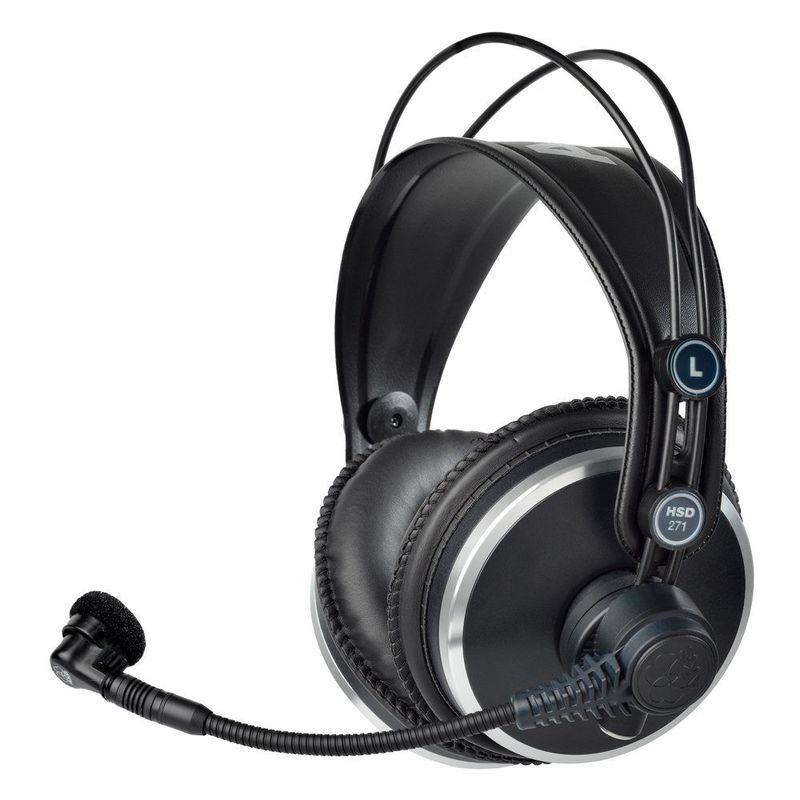 AKG HSD271 over-ear слушалки с микрофон, черни