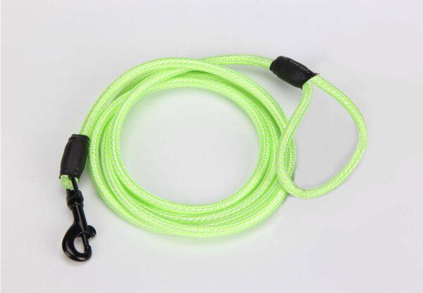 LED повод за куче, зелен