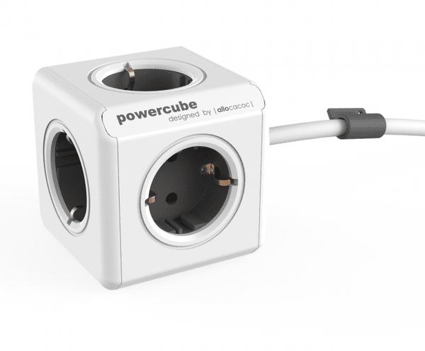 Разклонител Allocacoc PowerCube  Extended  с 5 гнезда и 1,5м кабел