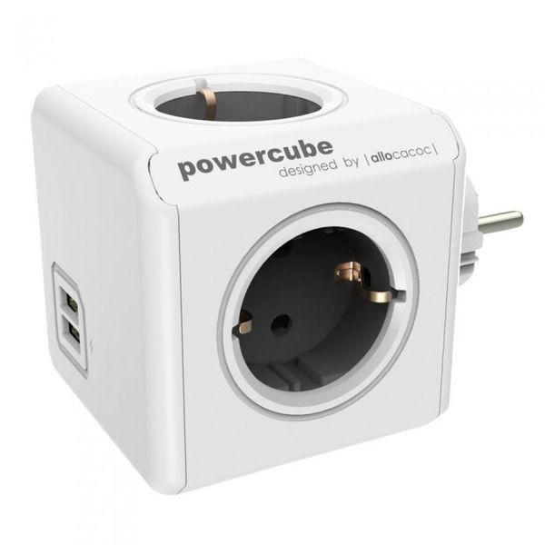 Разклонител Allocacoc PowerCube |Original USB| с 4 гнезда и USB