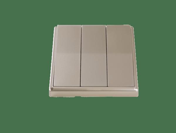 Кинетичен ключ за осветление-троен-Златист