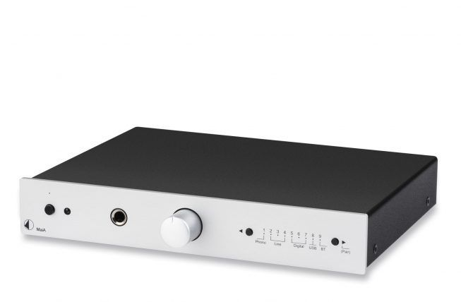 Pro-Ject MaiA Silver INT Stereo Integrated Amplifier With 9 Input Options