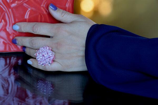 Пръстен Розов кристал