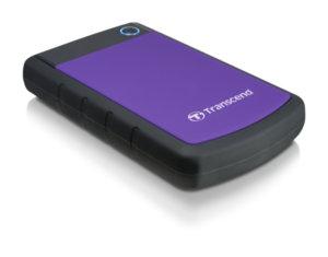 "Твърд  диск Transcend 1TB StoreJet 25H3 USB 3.0 2.5"" Rubber Case, Anti-Shock, Purple"