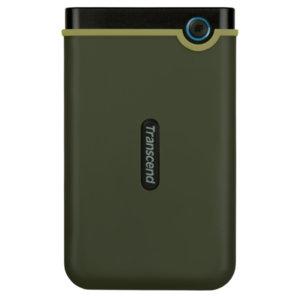 "Твърд  диск Transcend 1TB StoreJet 25M3G USB 3.1, 2.5"" Rubber Case, Anti-Shock, Military Green (Slim)"