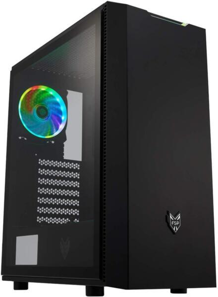 Кутия FSP Group CMT350 ARGB Gaming TG, ATX, Черен