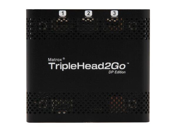 Външен мулти-дисплей адаптер Matrox T2G-DP-MIF за едновременна работа на 3 монитор с DP вход