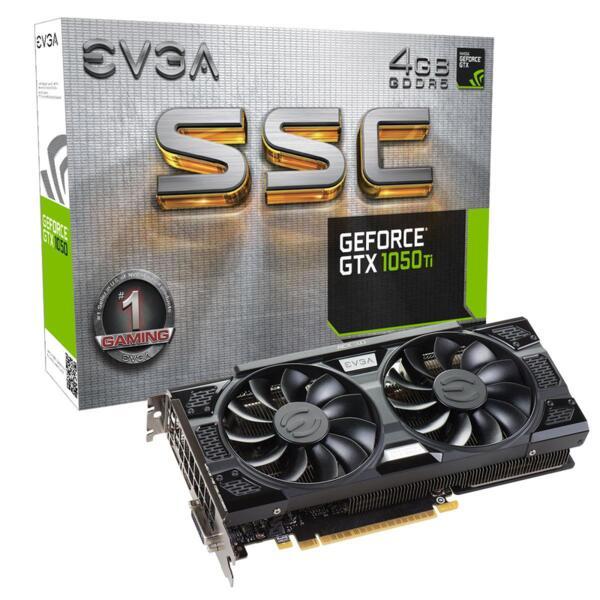 Видео карта  EVGA GeForce GTX 1050 Ti SSC GAMING ACX 3.0 04G-P4-6255-KR, 4GB, GDDR5, 128 bit, DVI-D, DisplayPort, HDMI