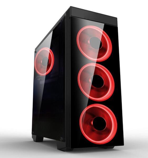Кутия Estillo 8872 RED Gaming ATX USB 3.0, 4 x RED Fan