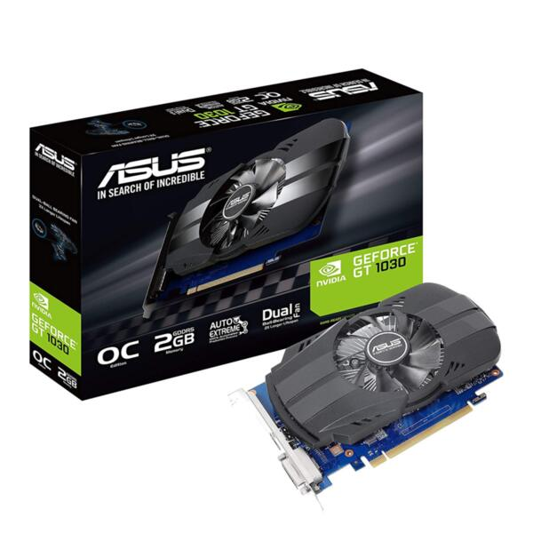 ASUS PH-GT1030-O2G 64bit, 2GB GDDR5 DVI-D, HDMI