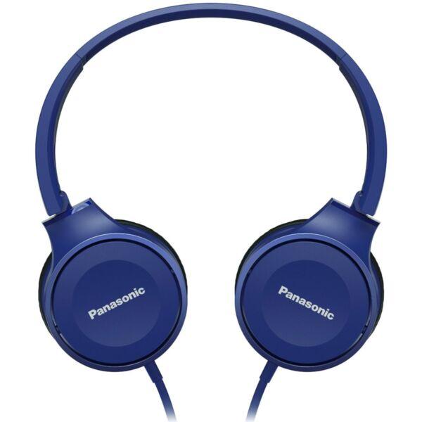 Panasonic олекотени стерео слушалки с наушници, микрофон, сини