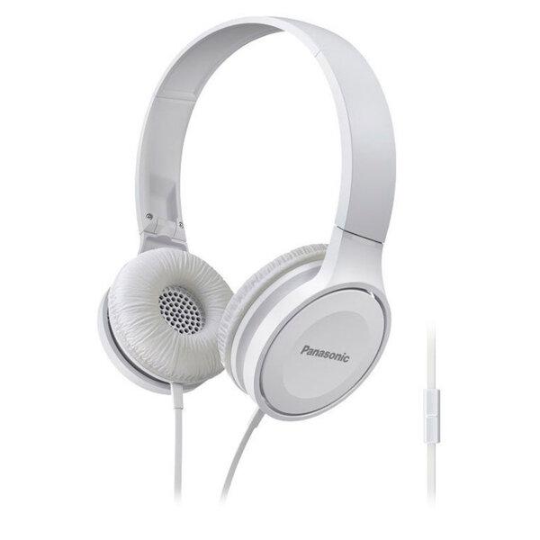 Panasonic олекотени стерео слушалки с наушници, микрофон, бели