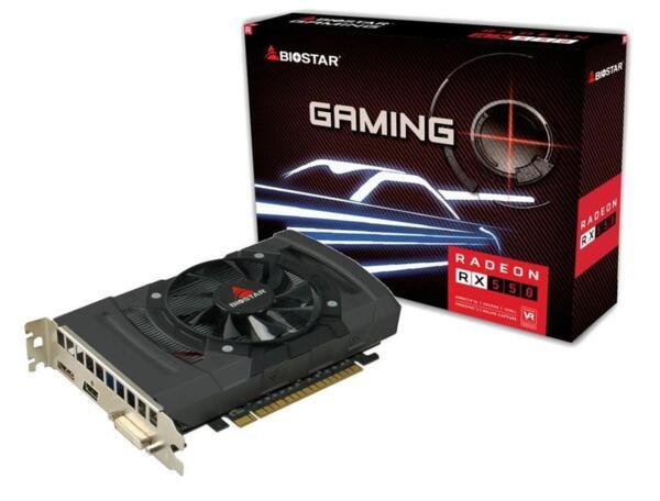 Видео карта BIOSTAR Radeon RX550, 2GB, GDDR5, 128 bit, DVI-I, HDMI, DisplayPort