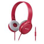 Panasonic олекотени стерео слушалки с наушници, микрофон, розови