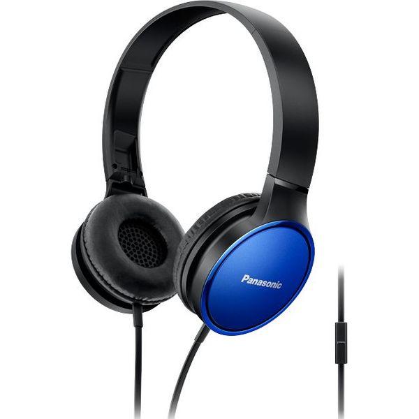Panasonic висококачествени слушалки с наушници, микрофон, сини