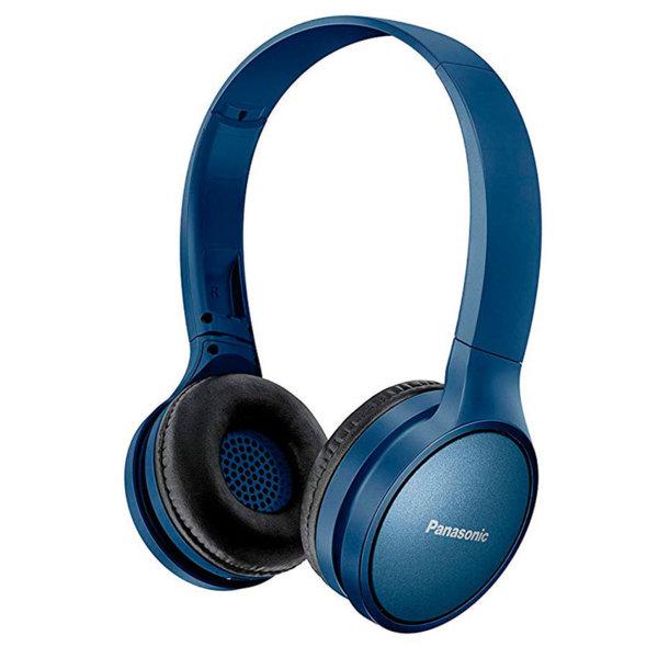 Panasonic безжични стерео слушалки c Bluetooth® и олекотен дизайн, сини