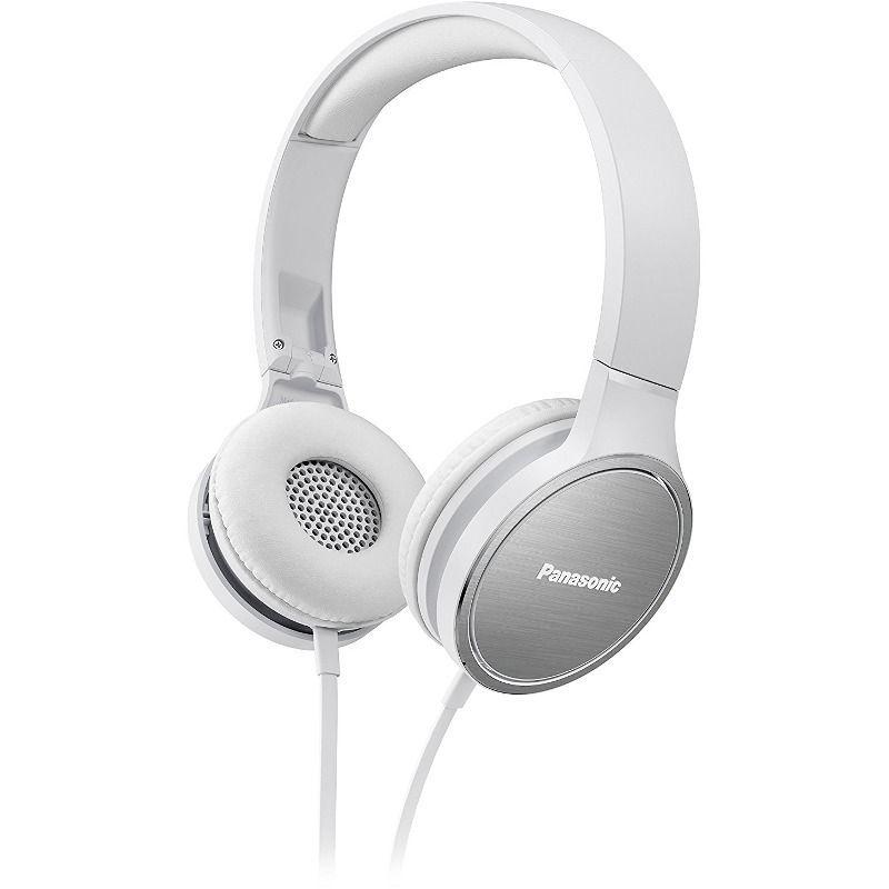 Panasonic висококачествени слушалки с микрофон и алуминиеви наушници, бели