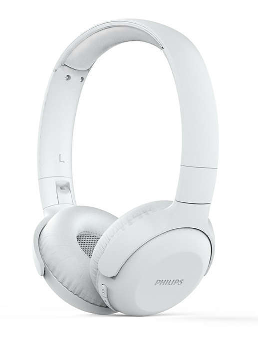 Philips Bluetooth слушалки, UpBeat 32 мм мембрани/затворен гръб, С наушници, Лека лента за глава, цвят бял
