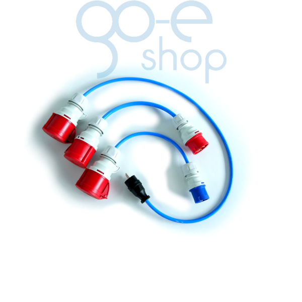 go-eCharger Adapterset CEE 16a (Red & Blue) multiple domestic plugs