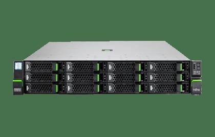 Сървър Fujitsu Primergy RX2520 M5 4X3.5'', 1 x Intel Xeon Silver 8 Core 4208  85 W 2.10 GHz /2400MHz 11MB; 16GB DDR4-2933 ECC UDIMM; up to 4 HDD 3,5 (not included); 1x450W  Modular Power