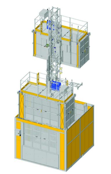 Двукабинен строителен асансьор Electroelsa Elsa H50