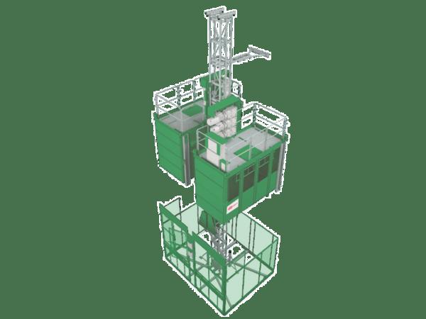 Двукабинен строителен асансьор Jaso GE2600
