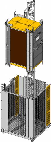 Строителен асансьор 400кг.
