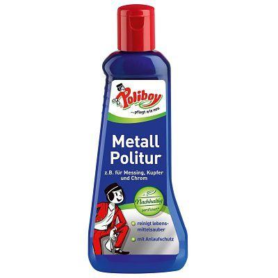 Poliboy препарат за почистване и поддържане на изделия от Месинг, Мед и Хром, 200 мл