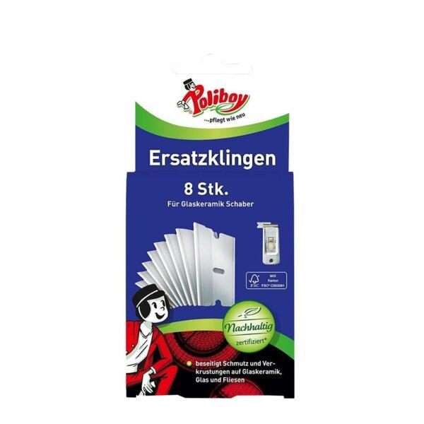 Poliboy резервни ножчета за шпатула за почистване на Стъклокерамични плотове, 8 бр